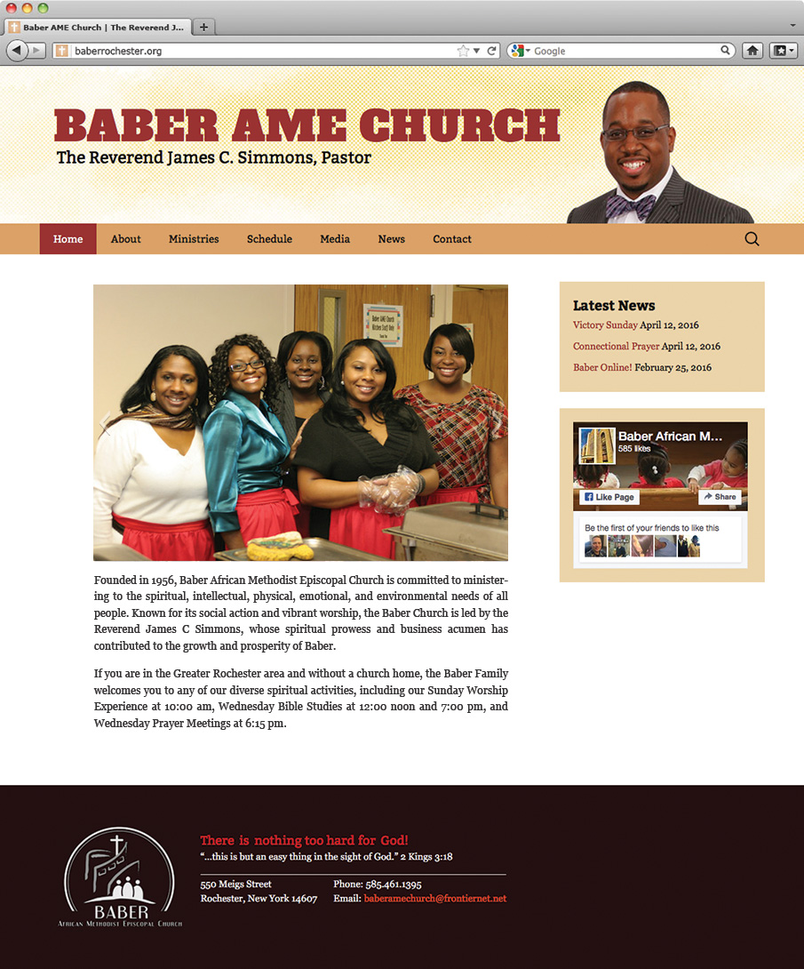 Baber AME Church Homepage