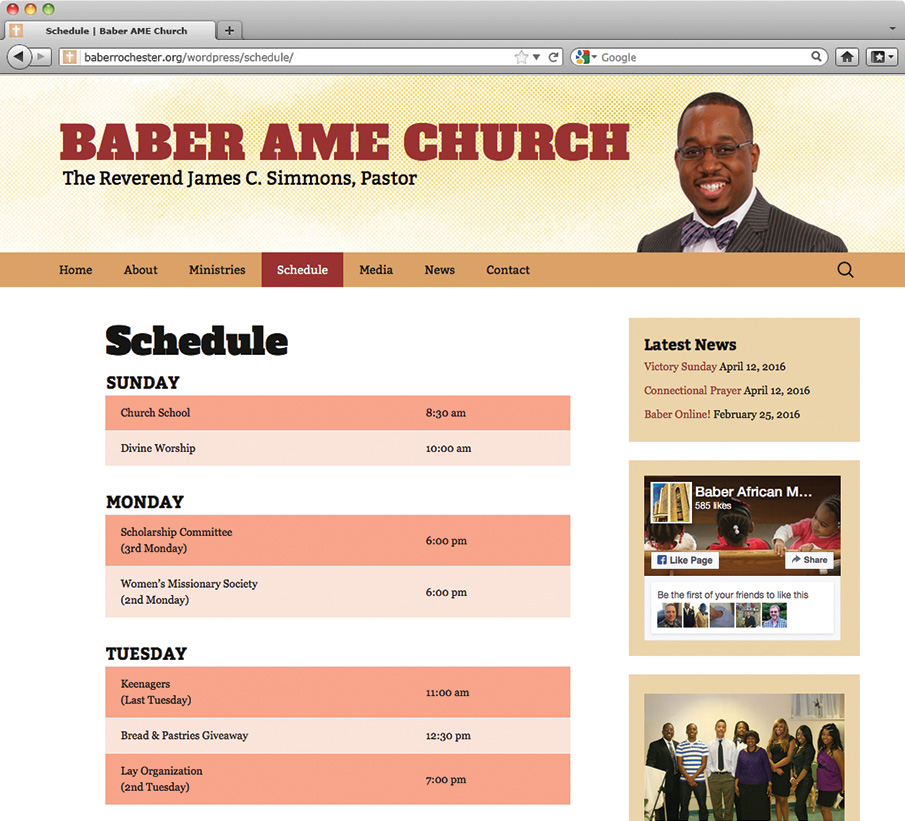 Baber AME Church Schedule