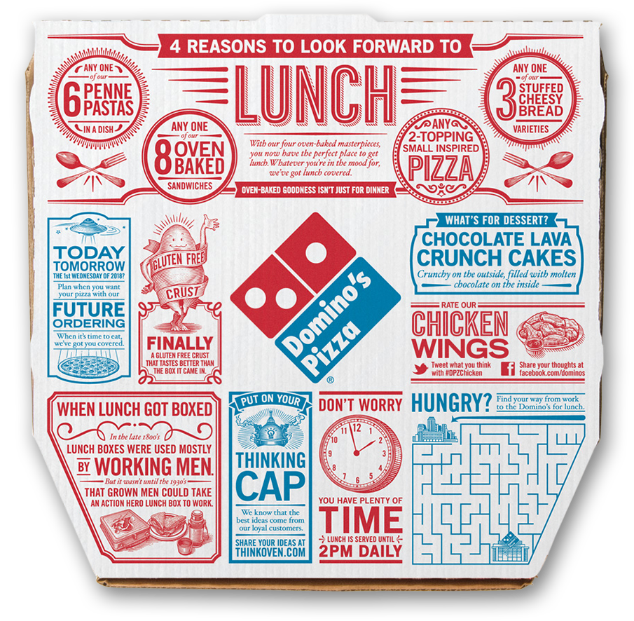Lunch Pizza Box