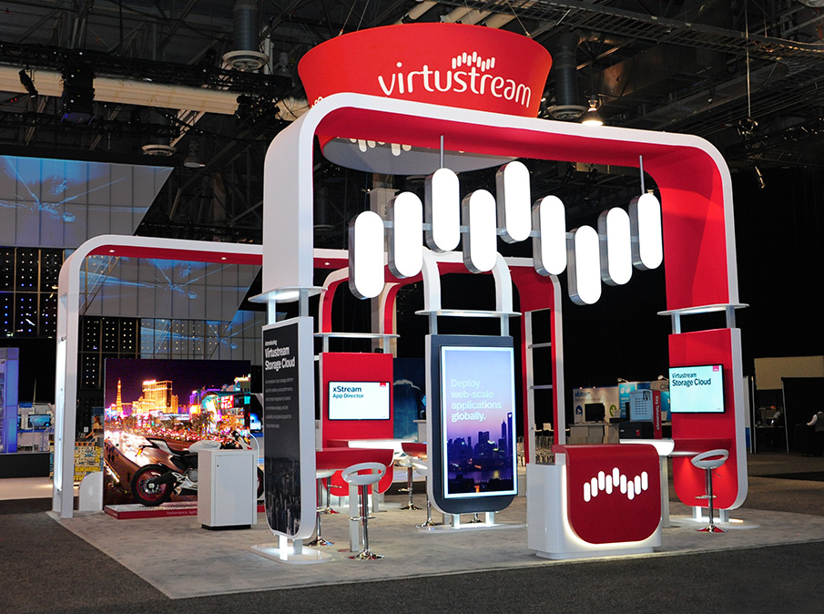 Virtustream Booth Front